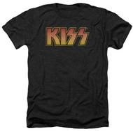 KISS T-Shirt - KISS Distressed Logo, (size L)