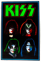KISS Poster - Blacklight, Solo Faces