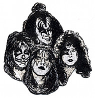 KISS Patch - Group, Black & Silver