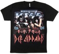 KISS T-Shirt - KISS/Def Leppard 40 Years, (size M) VERSION 2