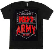 KISS T-Shirt - KISS Army in Red and White, (size L)