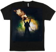 Ace Frehley T-Shirt - Smokin' Guitar Music, (size M)