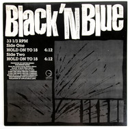 """Black 'n Blue Vinyl - 12"""" single, Hold On To 18, Tommy Thayer 1984"""