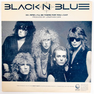 """Black 'n Blue Vinyl - 12"""" single, I'll Be There For You, Tommy Thayer 1986"""