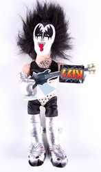 KISS Figure - Plush Doll, Gene Simmons, 8 inch