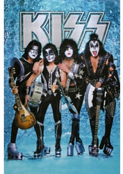 KISS Poster - Blue Chrome 2006, (sealed)