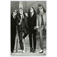 KISS Poster - Dressed to Kill, B&W, (sealed)