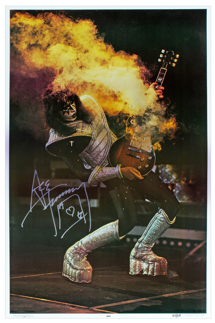Kiss Ace Frehley Autographed Alive Ii Poster 77 08 25