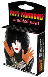KISS Paul Stanley Studded Latex condom box, (set of 3)