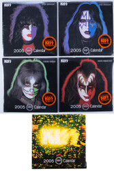 KISS Calendars - Australian KISS World 2005, set of 5, sealed with posters