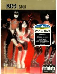 KISS DVD - KISS Gold, 3 disc set, (open)