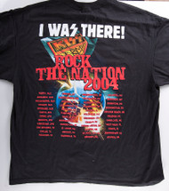 KISS T-Shirt - Rock the Nation I was There with tour dates (size XL)