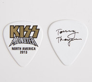 KISS Guitar Pick - Monster Gold Logo Tommy