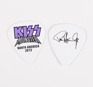 KISS Guitar Pick - Monster Purple Logo, Paul 2013