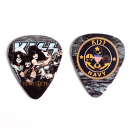 KISS Guitar Pick - KISS Navy Emblem, Monster Group