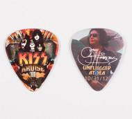 KISS Guitar Pick - KISS Kruise II, Gene photo, (no makeup)