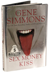 KISS Book - Gene Simmons Sex, Money, KISS - Autographed by Gene (B)