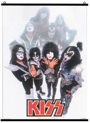 KISS Fabric Poster Scroll - Farewell