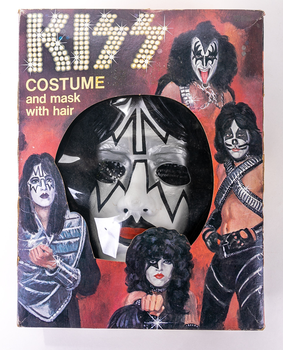 Vintage Rare Ace Frehley Kiss Army Band Rubber Mask Adult Halloween Costume!