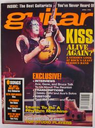 KISS Magazine - Guitar, April 1996 -Ace