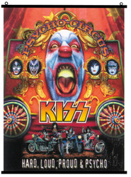KISS Fabric Poster Scroll - Loud, Proud and Psycho