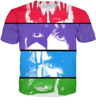 KISS T-Shirt - Color Eyes, (double-sided, all-over print), (SIZE M)