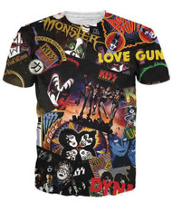 KISS T-Shirt - Discography, (double-sided, all-over print)