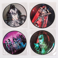 "KISS Vinyl Record - An Interview with Gene Simmons and Paul Stanley 7""  Picture Discs, (set of 4)"