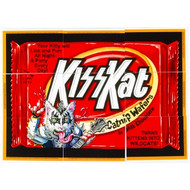 KISS Kat Wacky Packages Puzzle Cards, (tape marks on back)