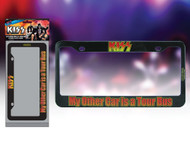 KISS License Plate Holder - My other car is a Tour Bus.