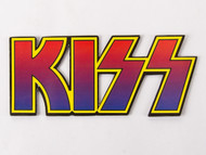 KISS Magnet - Red, Blue and Yellow cut-out Logo