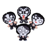 "KISS Figures - Plush Carnival, 8"", (set of 4)"