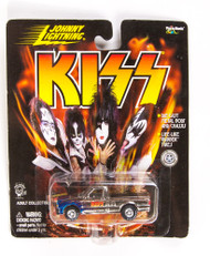 KISS Car - Johnny Lightning Truck, dark blue flames