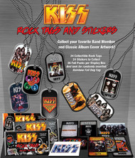 KISS Rock Tags - Pendant singles