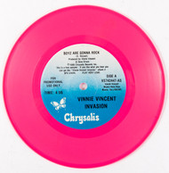Vinnie Vincent Vinyl Record - Pink 45 rpm Are You Ready to Rock promo