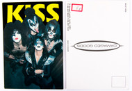KISS Postcard - Yellow 'KISS'