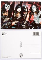 KISS Postcard -Reunion Logo on Stage