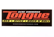 KISS Sticker - Gene Simmons Tongue