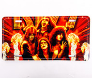KISS License Plate - Fire and Fury