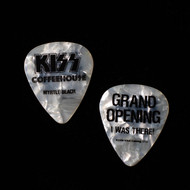 KISS Guitar Pick - KISS Coffeehouse, Grand Opening, Pearl