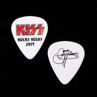 KISS Guitar Pick - KISS Rocks Vegas, Flames Logo, Gene
