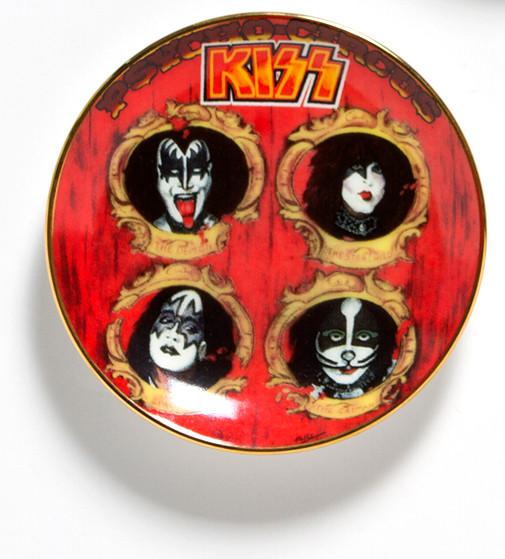 Kiss Plate Psycho Circus Mini Ornament Kiss Museum