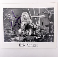 KISS Autograph - Eric Singer 8x10 photo, Alive III, black and white