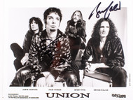 KISS Autograph - Bruce Kulick Union 8x10 photo, black and white