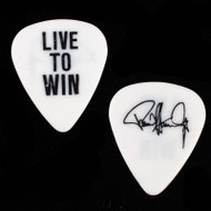 Paul Stanley Guitar Pick - 2006 Live to Win Solo Tour, black on white