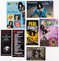 Paul Stanley Postcards and Fliers, (set of 7)
