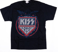 KISS T-Shirt - KISS Army Inception, November 21, 1975, (size XL)
