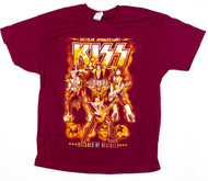 KISS T-Shirt - Decades of Decibels, maroon, (size XL)
