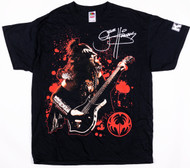 KISS T-Shirt - Gene Signature Red Background, Logo on Sleeve, (size XL)