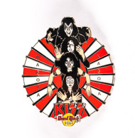 KISS Hard Rock Cafe Pin - Group red and white fan Nagoya